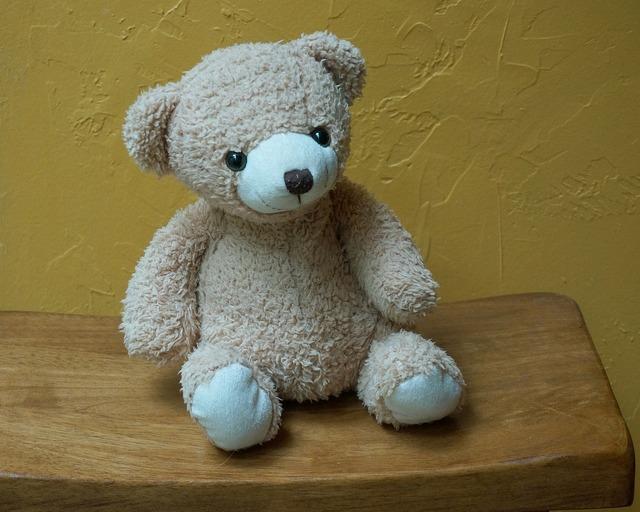 Old teddy bear teddy bear toy.