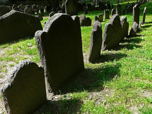 Old tombstones cemetery.