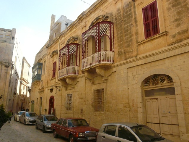 Old town malta historically, architecture buildings.