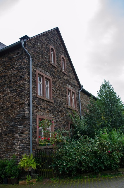 Old town mosel stone house, architecture buildings.