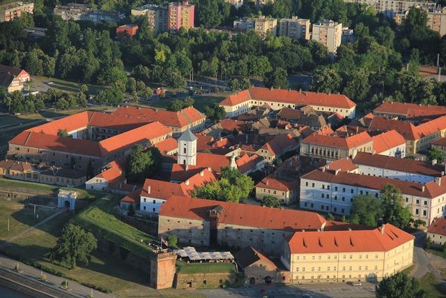 Old town osijek tvrđa, architecture buildings.