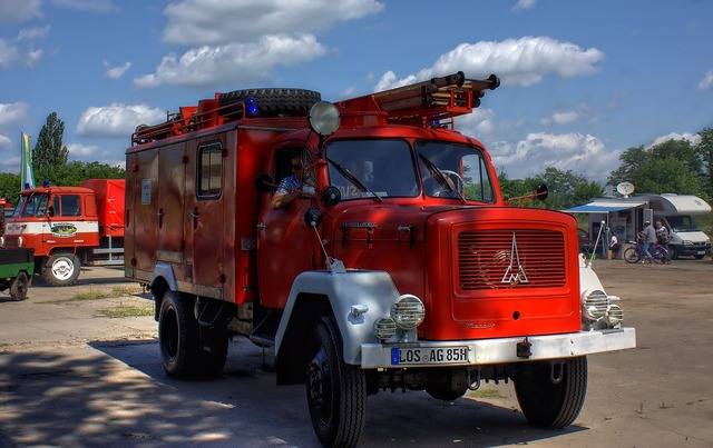 Oldtimer fire auto.