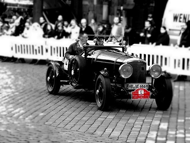 Oldtimer racing car automotive, transportation traffic.