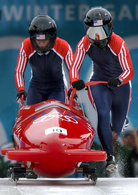 Olympic games bobsled.