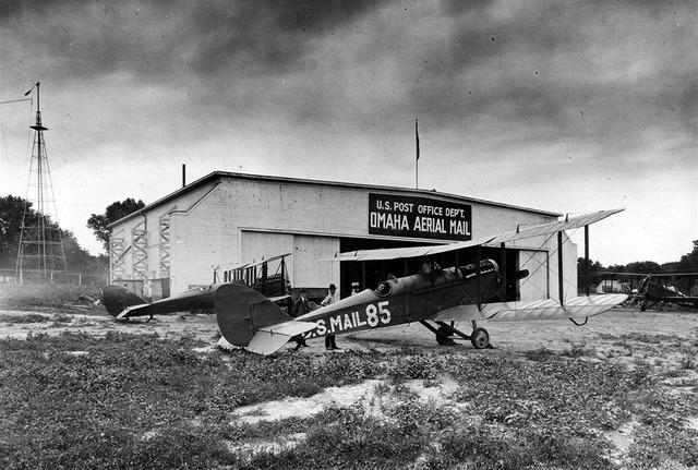 Omaha airfield airplain, transportation traffic.