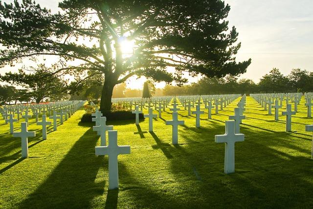 Omaha beach military cemetery normandy.