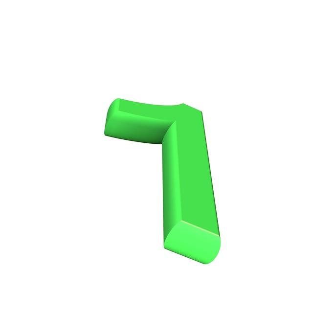 One number digit.