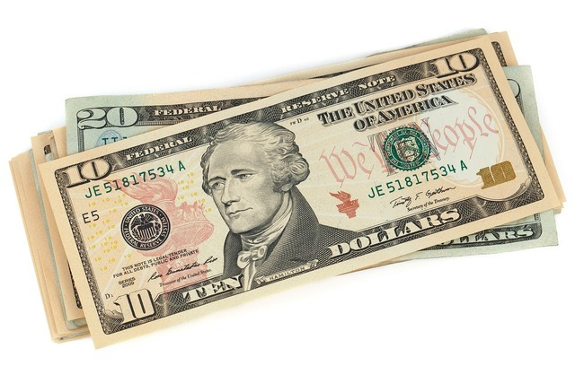 One usa banknote, business finance.