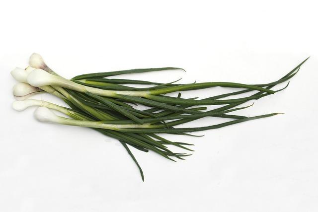 Onion green vitamins, food drink.