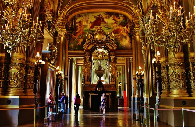 Opera garnier theatre, architecture buildings.