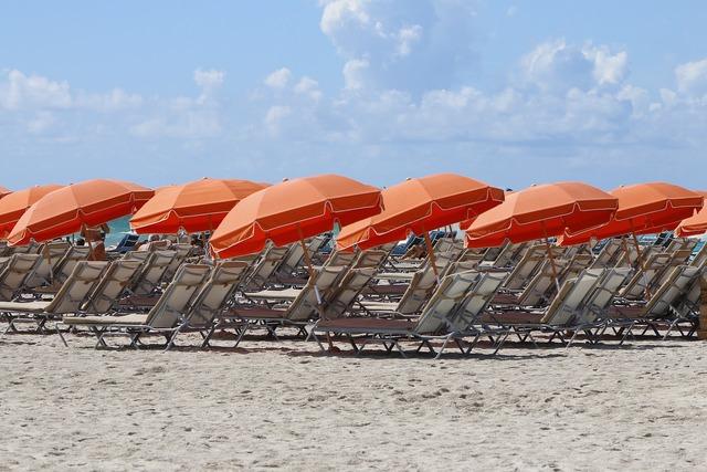 Orange beach hat, travel vacation.