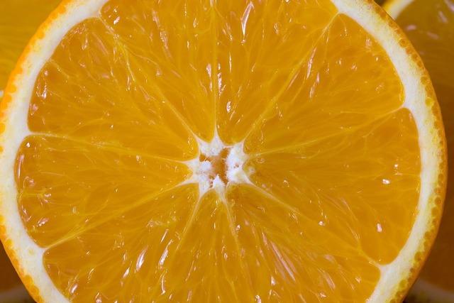 Orange detail cut, food drink.