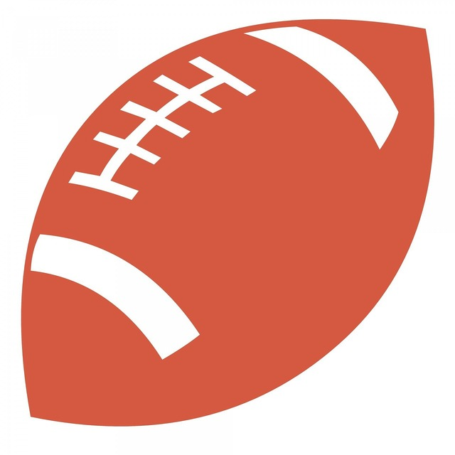 Orange football ball, sports.