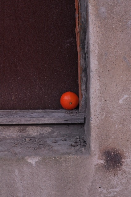 Orange frame window.