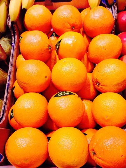 Orange fruit healthy, food drink.
