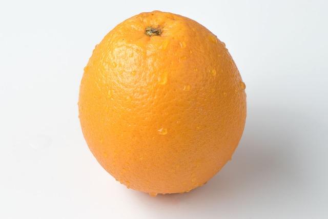 Orange fruit single, food drink.
