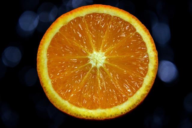 Orange the background colors, food drink.