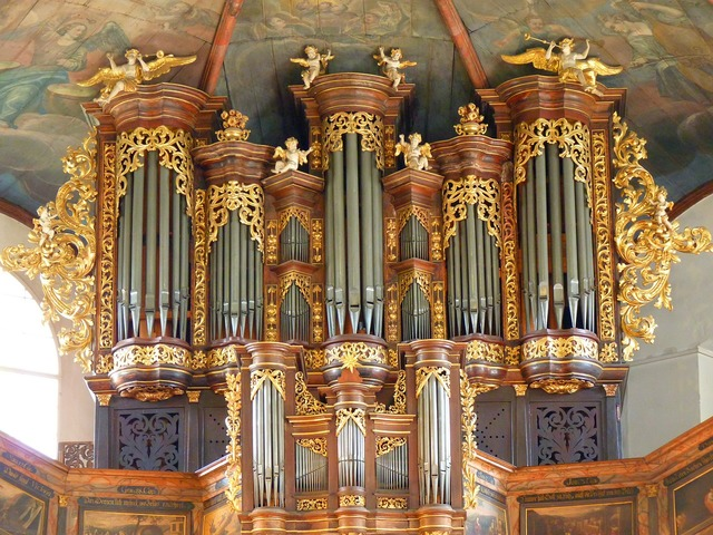 Organ church music, religion.