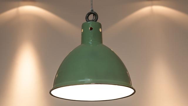 Original factory pendant light enamel green enamel, architecture buildings.