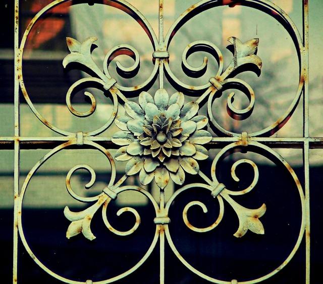 Ornament rosette fence, architecture buildings.