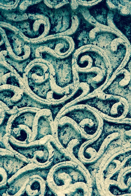 Ornament stone facade, backgrounds textures.