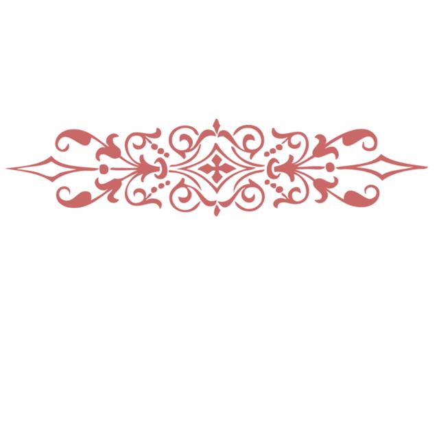 Ornate design decorative.
