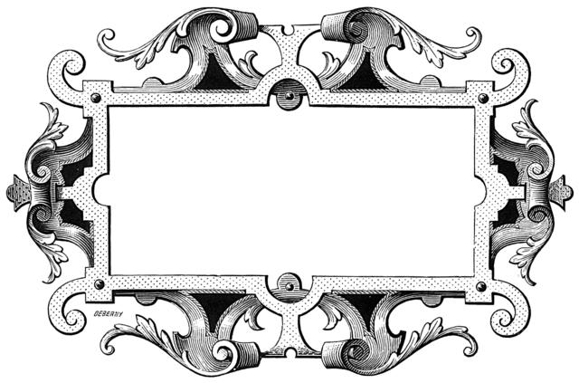 Ornate vintage frame.