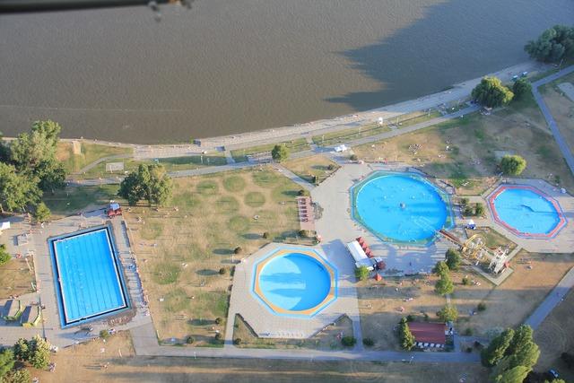 Osijek drava river pool.