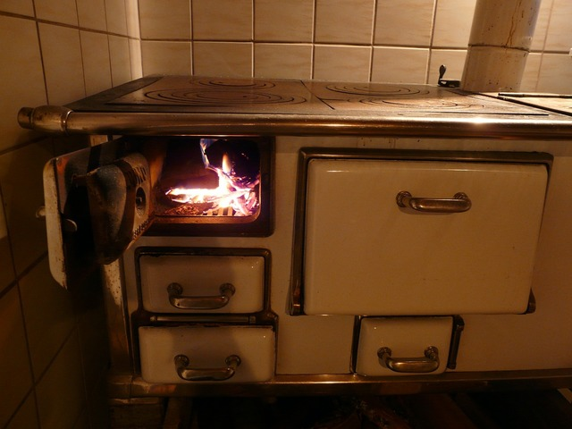 Oven stove fire.