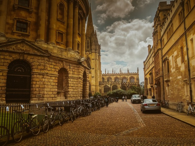 Oxford street england, transportation traffic.