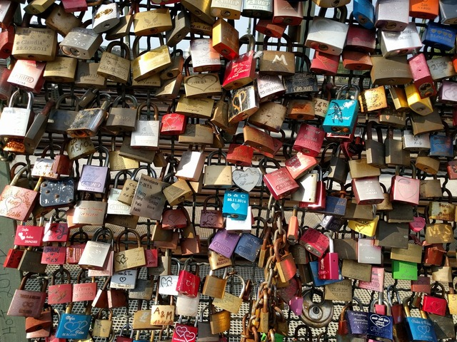 Padlock bridge padlocks, emotions.