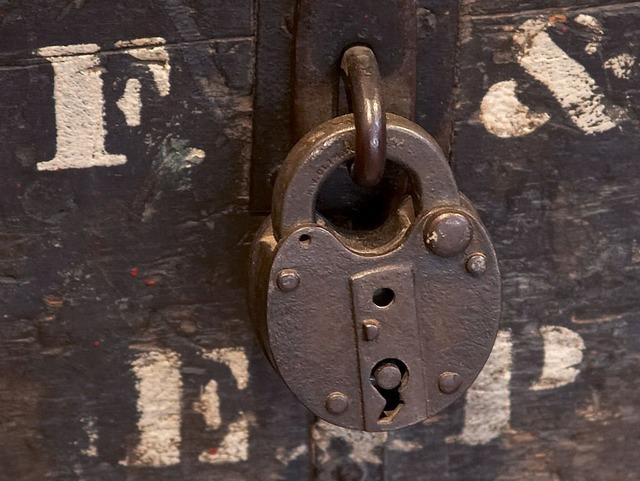 Padlock castle closed.