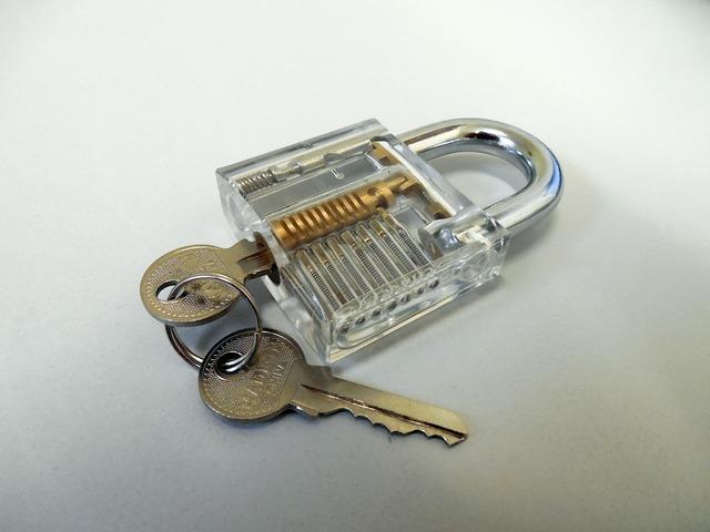 Padlock castle key.