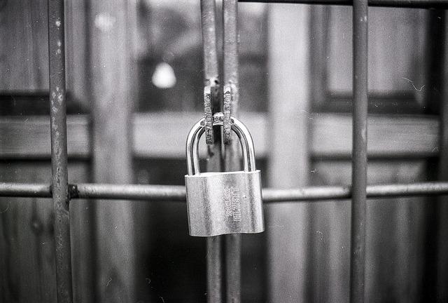 Padlock closed lock.