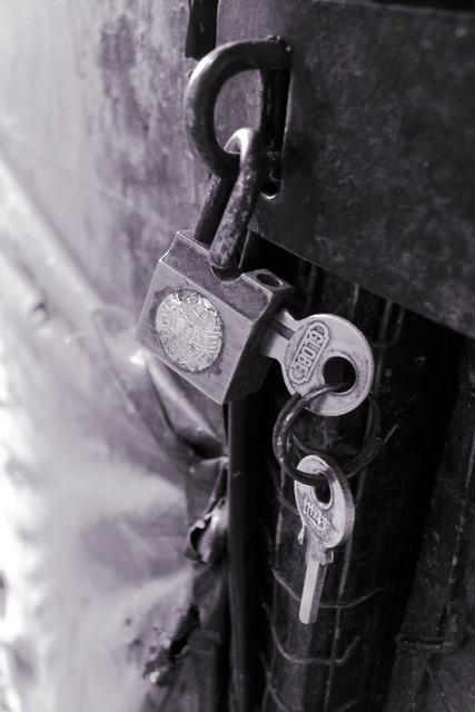 Padlock lock key.