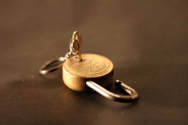 Padlock unlocked lock.