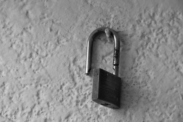 Padlock unlocked unlock.