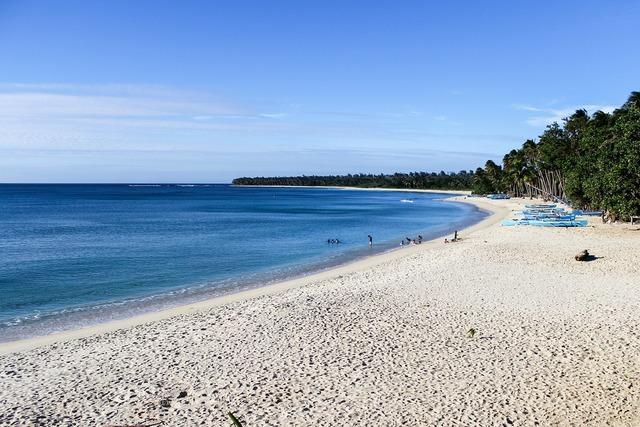 Pagudpud beach beach blue sky, travel vacation.