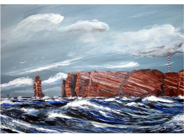 Painting art acrylic paint.