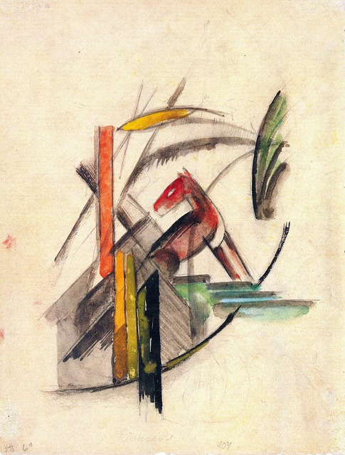 Painting franz marc abstract.