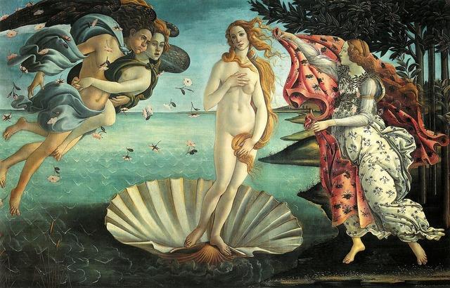 Painting la nascita di venere botticelli.