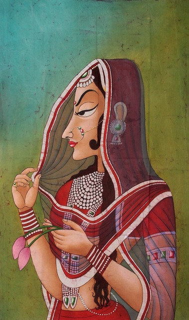 Painting lady india.