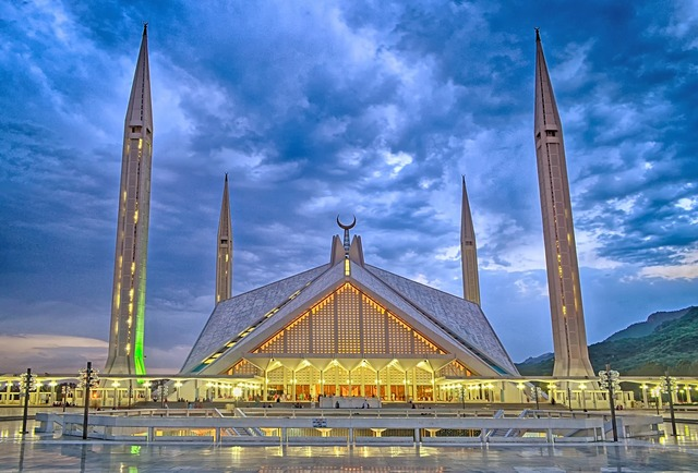 Pakistan islamabad faisal mosque, architecture buildings.