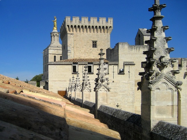 Palace of the popes avignon vaucluse.