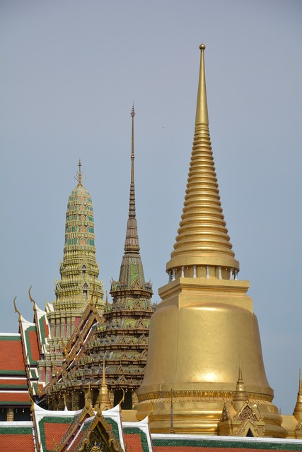 Palace temple of the emerald buddha thailand.