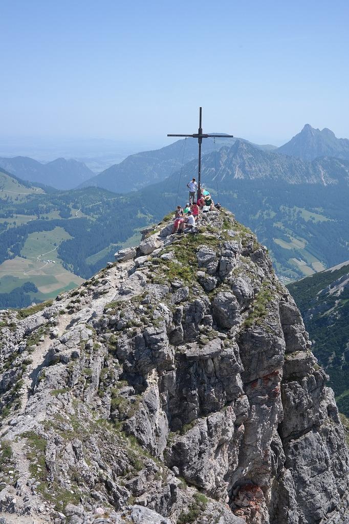 Palma summit summit cross, nature landscapes.