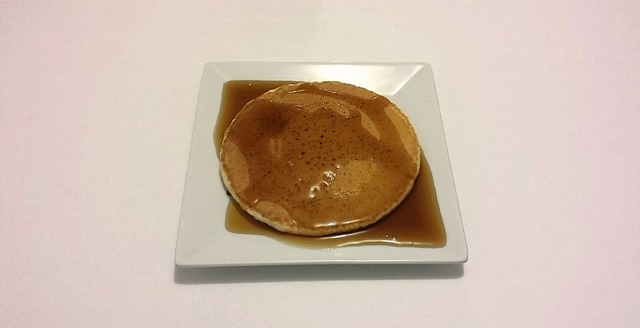 Pancake honey breakfast, food drink.