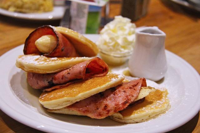 Pancakes yummy delicious.