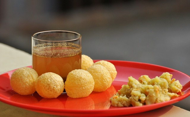 Panipuri gupchup indian food, food drink.