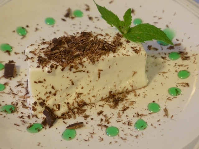Panna cotta dessert sweet.